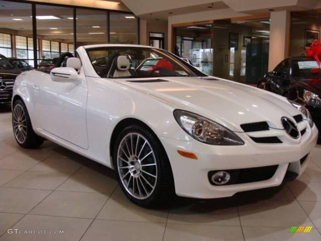 2010 Designo Mystic White Mercedes Benz Slk 300 Diamond Edition Roadster 21370144