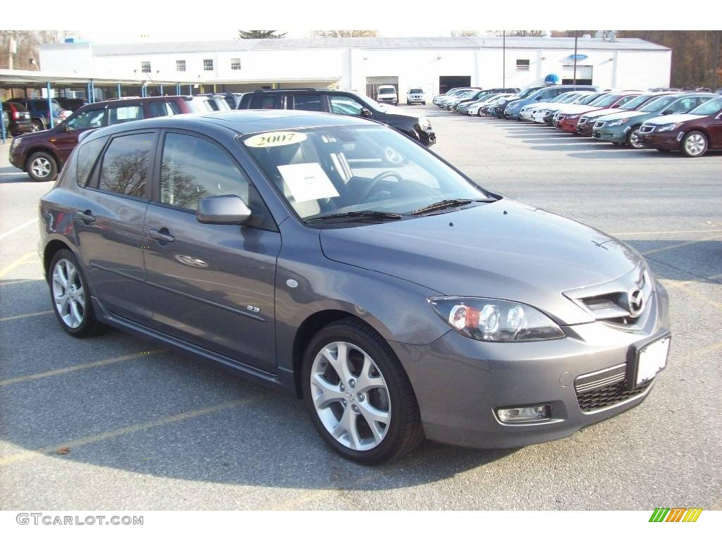 2007 galaxy gray mica mazda mazda3 s grand touring hatchback 21384681 photo 12. Black Bedroom Furniture Sets. Home Design Ideas