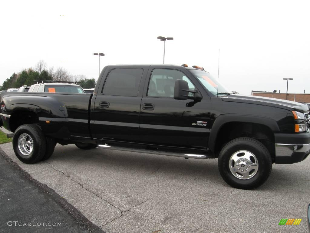 2006 black chevrolet silverado 3500 lt crew cab 4x4 dually 21380076 photo 6. Black Bedroom Furniture Sets. Home Design Ideas