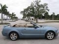 2007 Windveil Blue Metallic Ford Mustang GT Premium Convertible  photo #3
