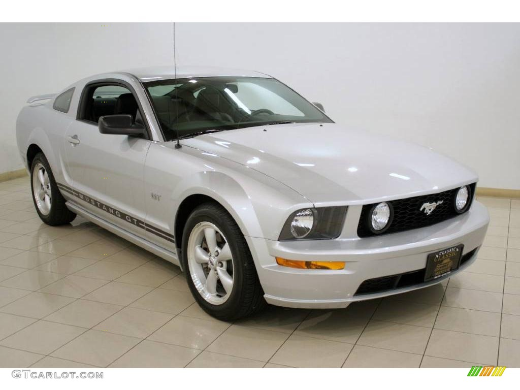 2007 Mustang GT Premium Coupe - Satin Silver Metallic / Dark Charcoal photo #1