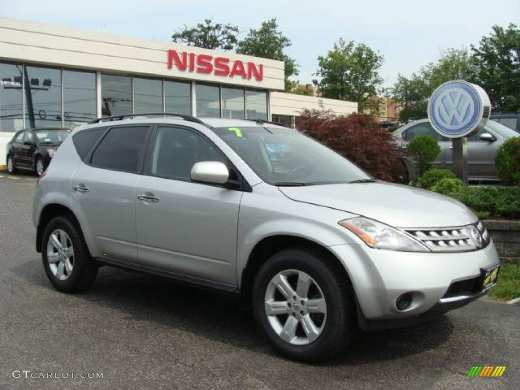 2007 Murano S AWD - Brilliant Silver Metallic / Charcoal photo #1