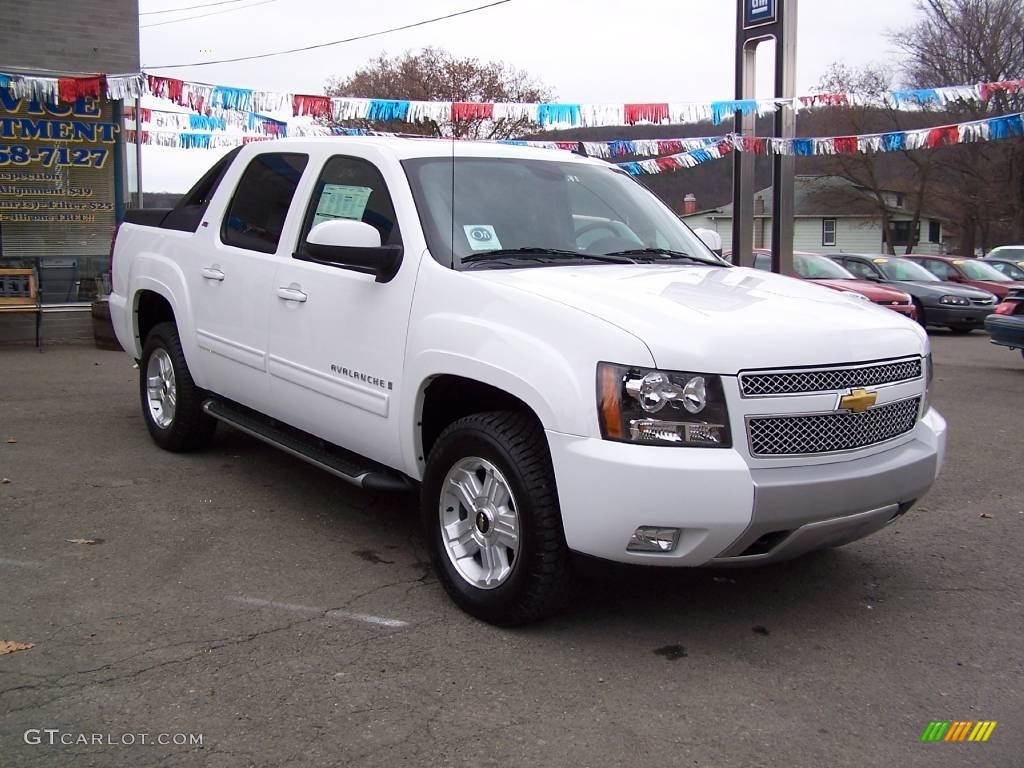 2009 summit white chevrolet avalanche z71 4x4 21447317 photo 2 car color. Black Bedroom Furniture Sets. Home Design Ideas