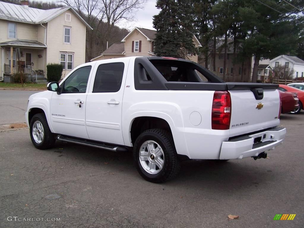2009 summit white chevrolet avalanche z71 4x4 21447317 photo 5 car color. Black Bedroom Furniture Sets. Home Design Ideas