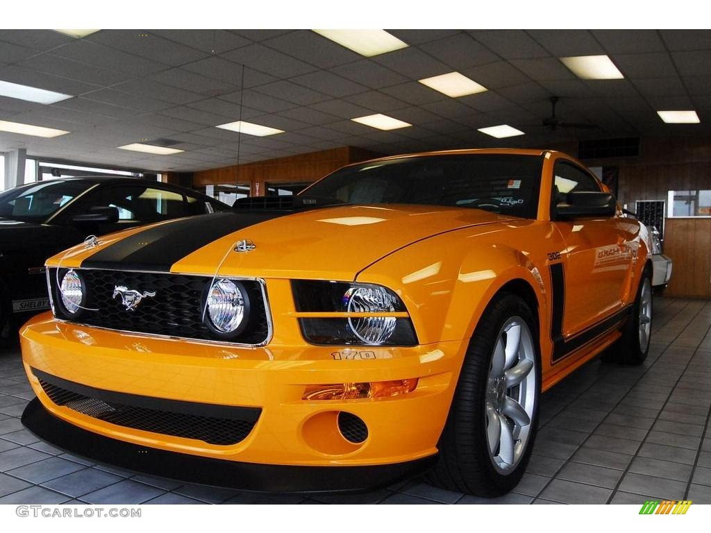 2007 Mustang Saleen Parnelli Jones Edition - Grabber Orange / Black Leather photo #1