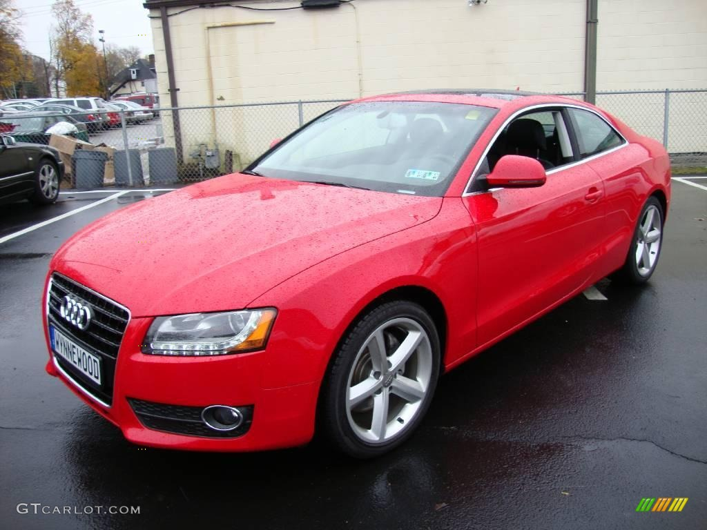 2009 brilliant red audi a5 3 2 quattro coupe 21510140 car color galleries. Black Bedroom Furniture Sets. Home Design Ideas