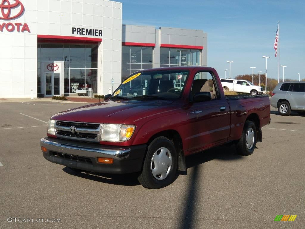 1998 Tacoma Regular Cab - Sunfire Red Pearl Metallic / Oak photo #1