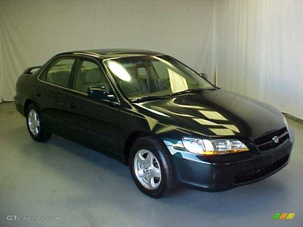 1999 dark emerald pearl honda accord ex v6 sedan 21514161. Black Bedroom Furniture Sets. Home Design Ideas