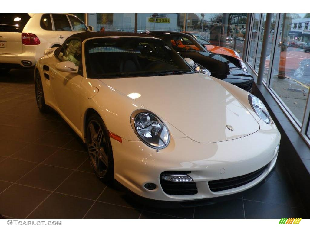 2009 cream white porsche 911 turbo cabriolet 21560303. Black Bedroom Furniture Sets. Home Design Ideas