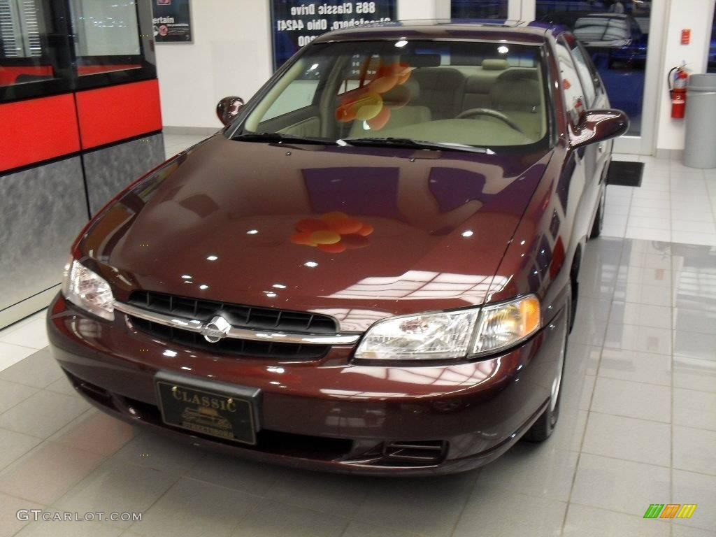 1998 black cherry pearl metallic nissan altima gle #21576583