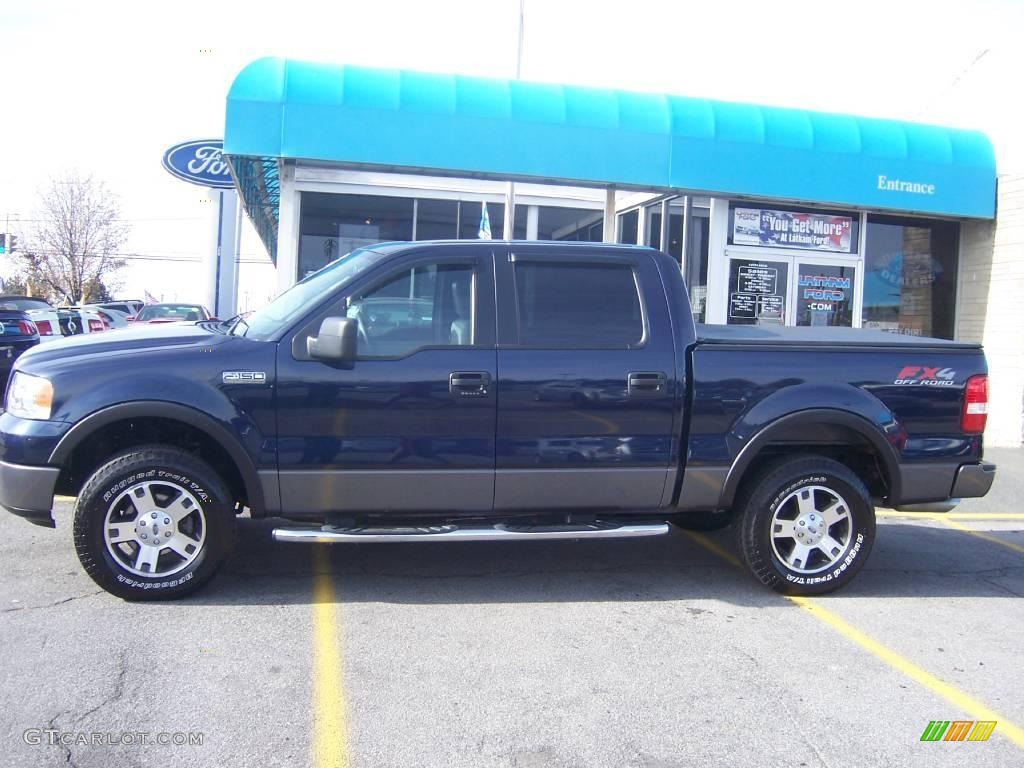 True Blue Paint Color 2006 True Blue Metallic Ford F150 Fx4 Supercrew 4x4 21555284