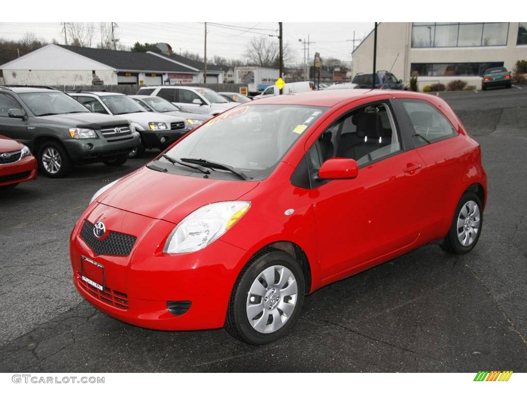 2007 absolutely red toyota yaris 3 door liftback 2144282. Black Bedroom Furniture Sets. Home Design Ideas