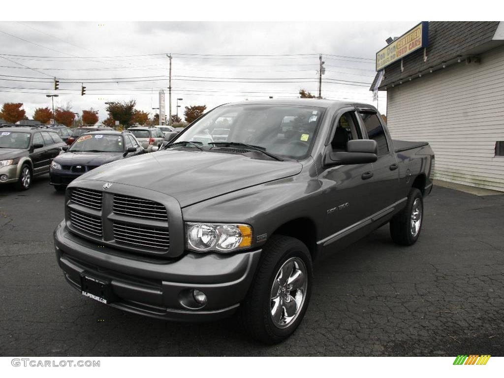 2005 mineral gray metallic dodge ram 1500 laramie quad cab. Black Bedroom Furniture Sets. Home Design Ideas