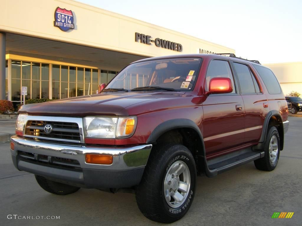 1998 Sunfire Red Pearl Toyota 4runner Sr5 21622269