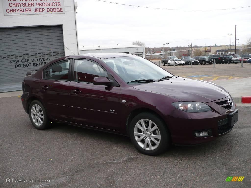 2008 phantom purple mica mazda mazda3 s sport sedan. Black Bedroom Furniture Sets. Home Design Ideas