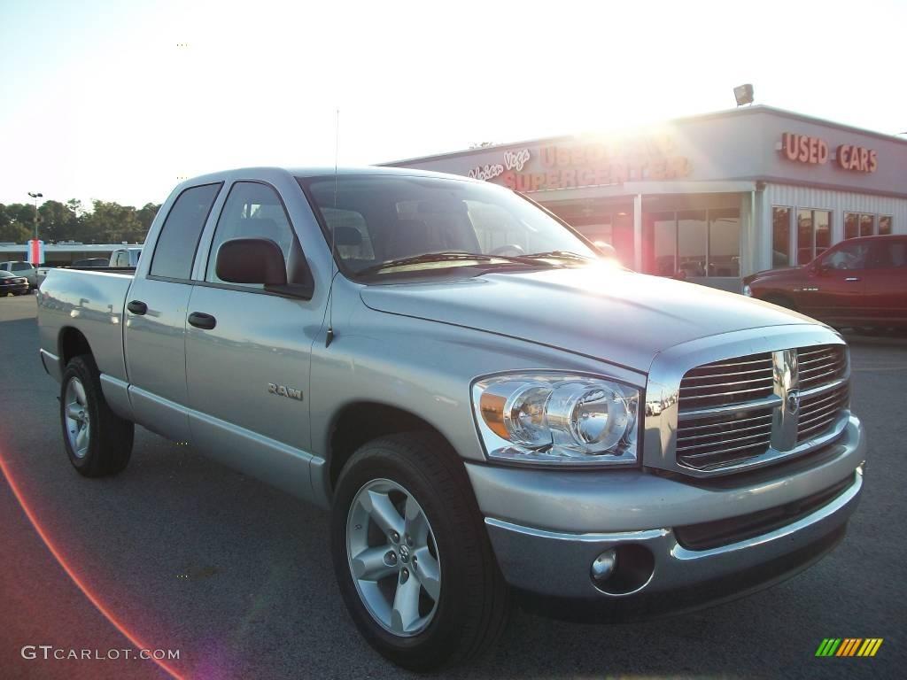 2008 Ram 1500 Big Horn Edition Quad Cab - Bright Silver Metallic / Medium Slate Gray photo #1