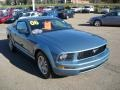 2006 Windveil Blue Metallic Ford Mustang V6 Deluxe Coupe  photo #6