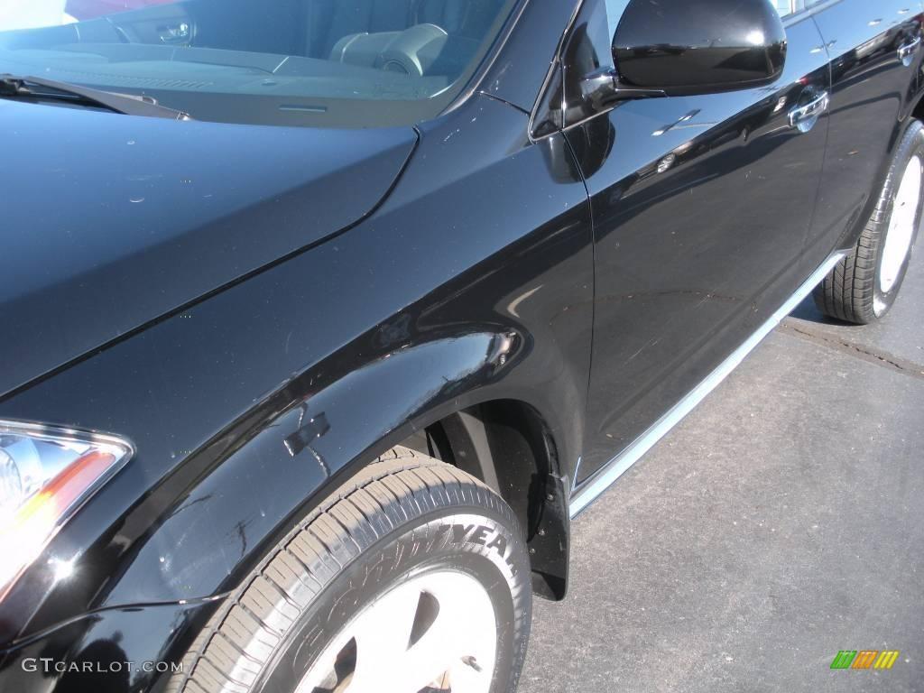 2006 Murano SL AWD - Super Black / Charcoal photo #10