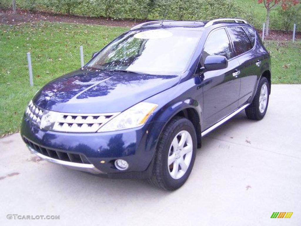 2007 Murano SE AWD - Midnight Blue Pearl / Charcoal photo #1