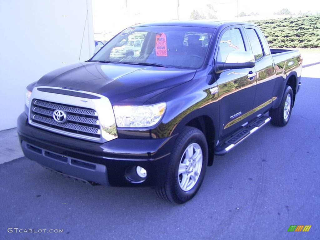 2007 Tundra Limited Double Cab - Black / Red Rock photo #1
