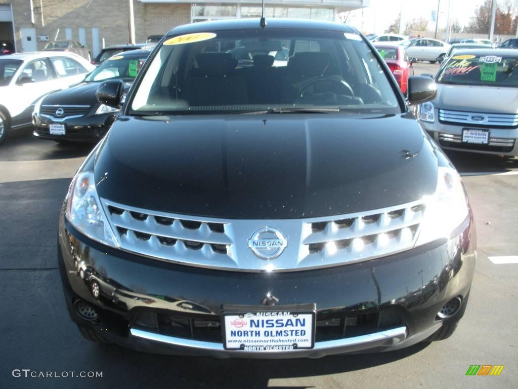 2007 Murano S AWD - Super Black / Charcoal photo #2