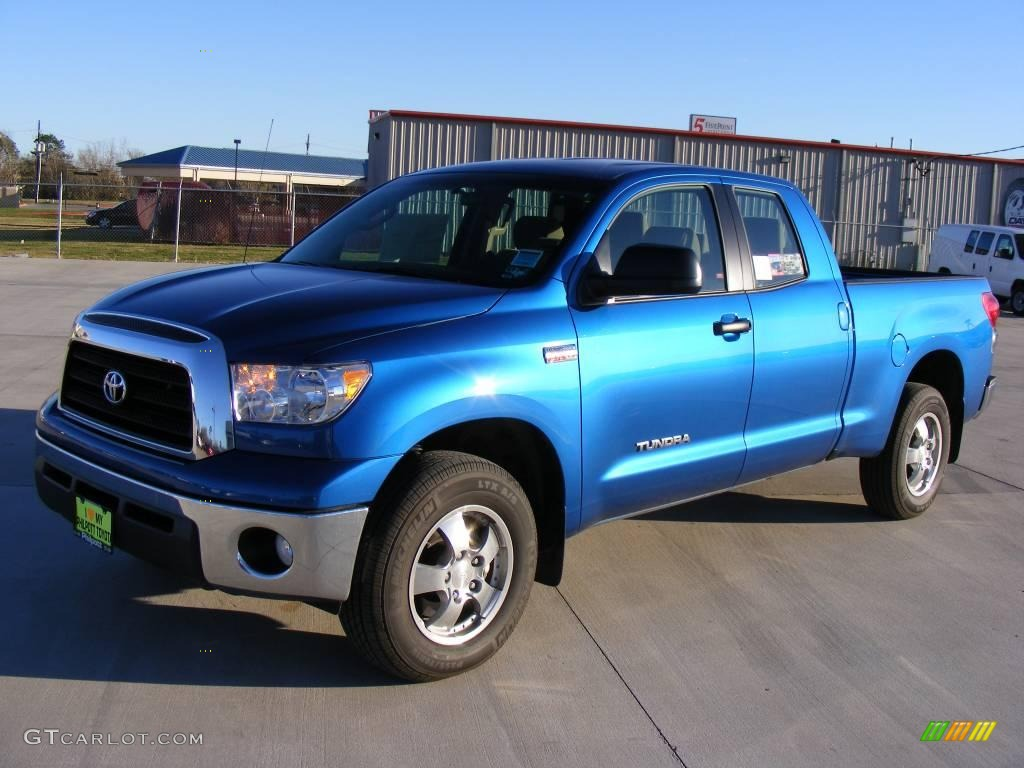 2008 Tundra Double Cab 4x4 - Blue Streak Metallic / Beige photo #1