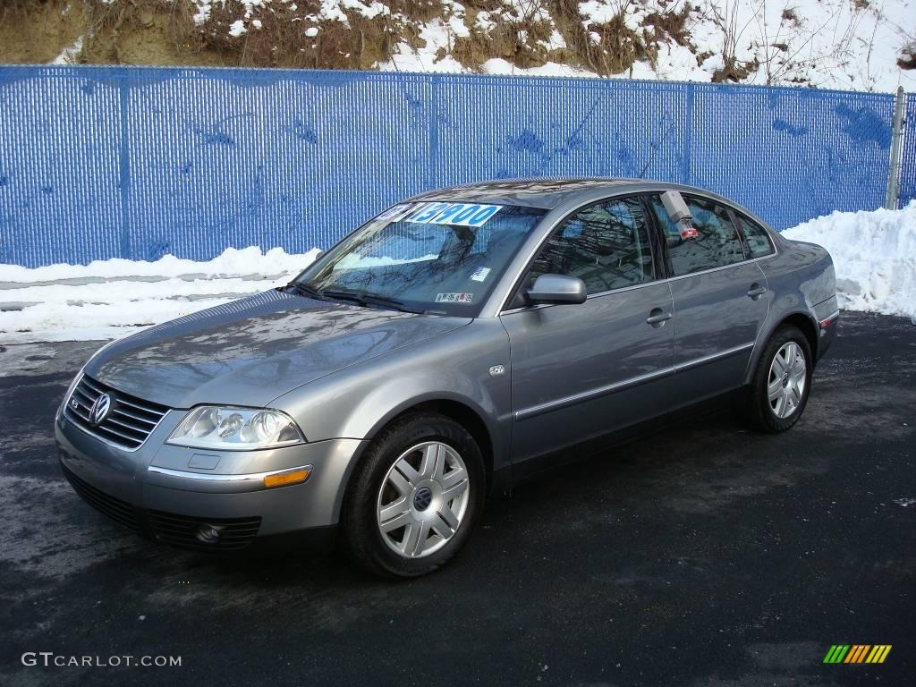 2002 silverstone grey metallic volkswagen passat w8 4motion sedan 2172875 car. Black Bedroom Furniture Sets. Home Design Ideas