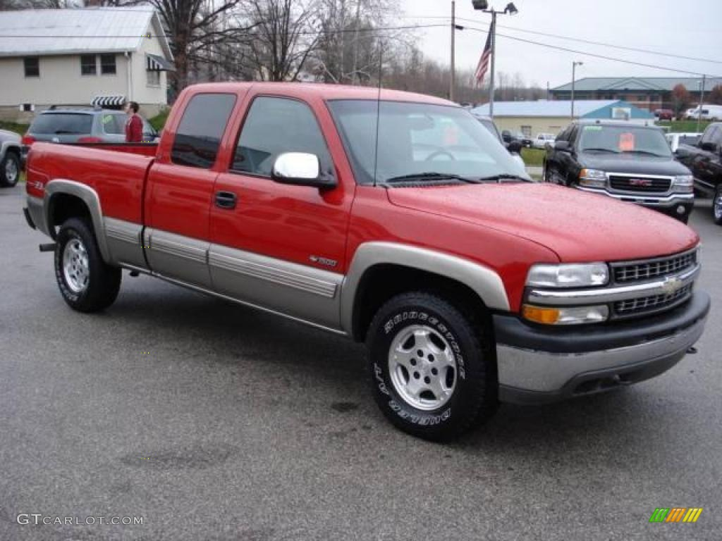 2001 victory red chevrolet silverado 1500 ls extended cab 4x4 21781203 car. Black Bedroom Furniture Sets. Home Design Ideas