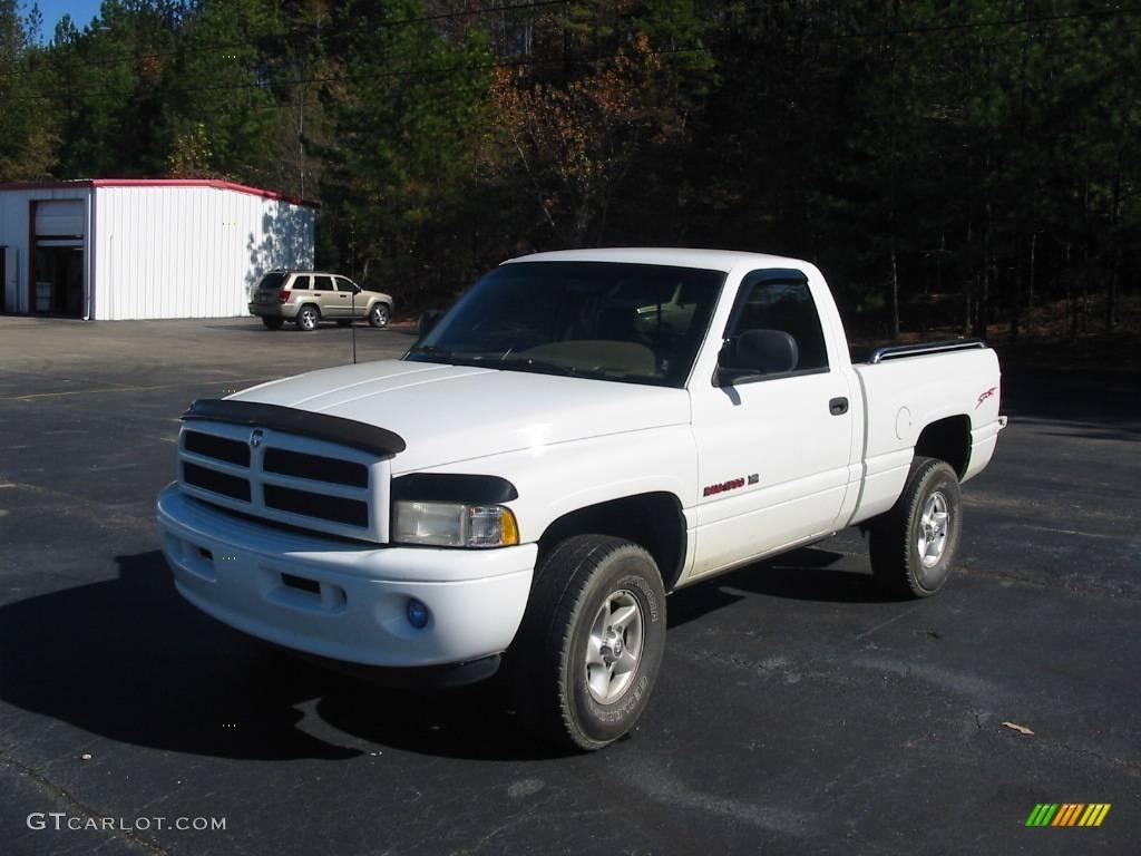 1998 bright white dodge ram 1500 sport regular cab 4x4 21779077 car color. Black Bedroom Furniture Sets. Home Design Ideas