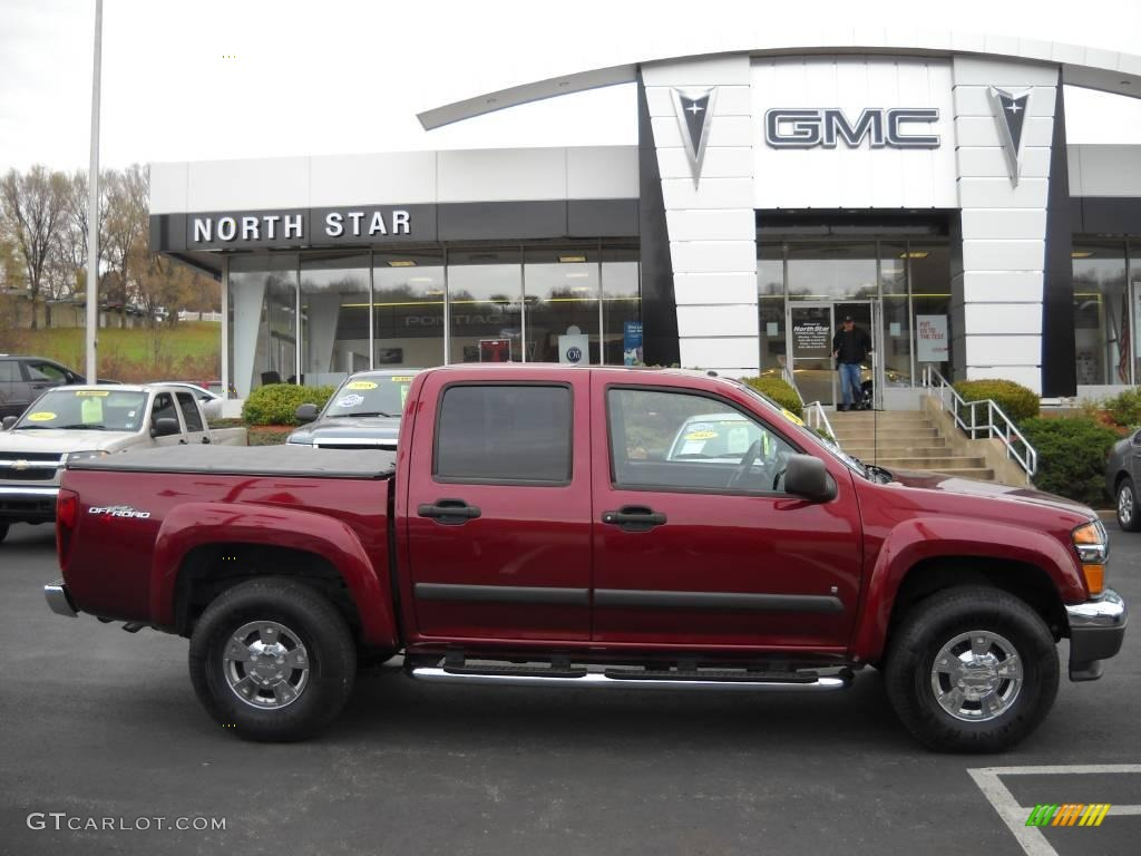 2007 Sonoma Red Metallic Gmc Canyon Sle Crew Cab 4x4