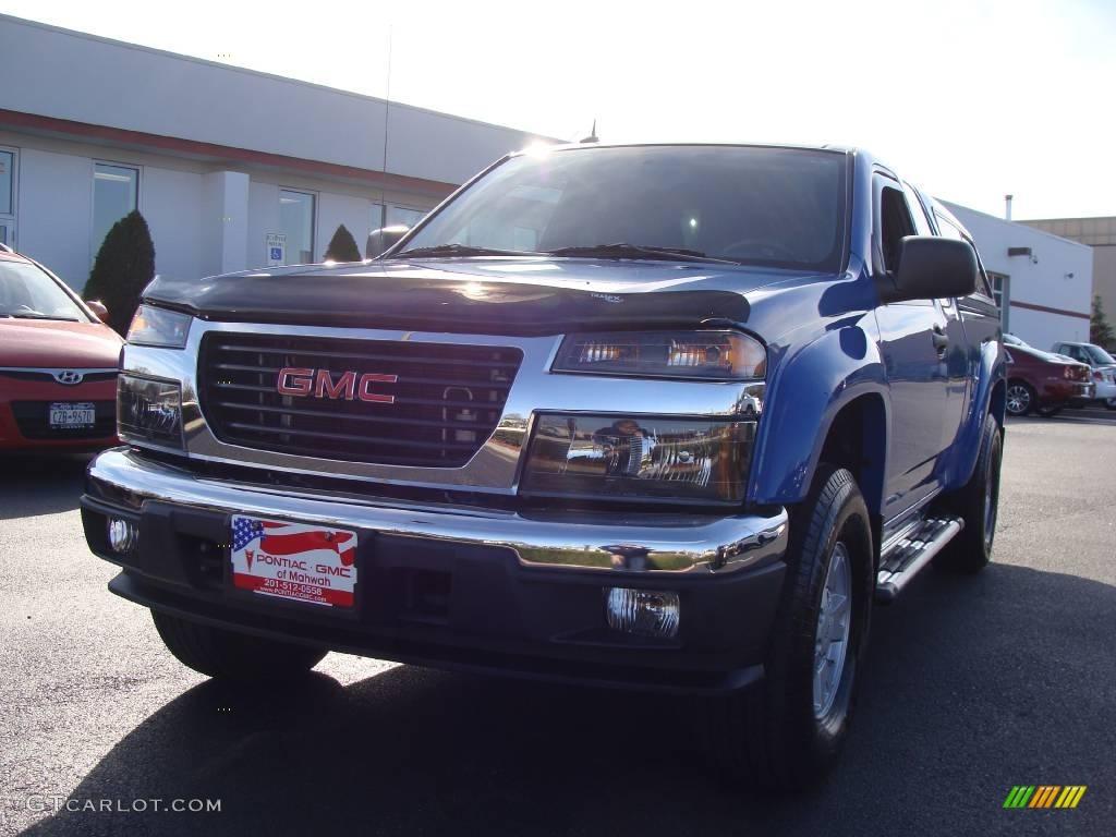 2008 Sport Blue GMC Canyon SLE Extended Cab 4x4 #21773713 Photo #4   GTCarLot.com - Car Color ...