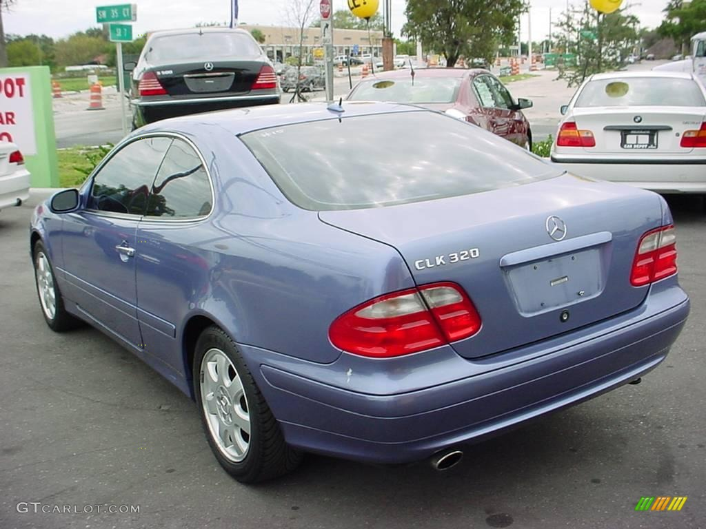 2002 clk 320 coupe quartz blue metallic ash photo 5