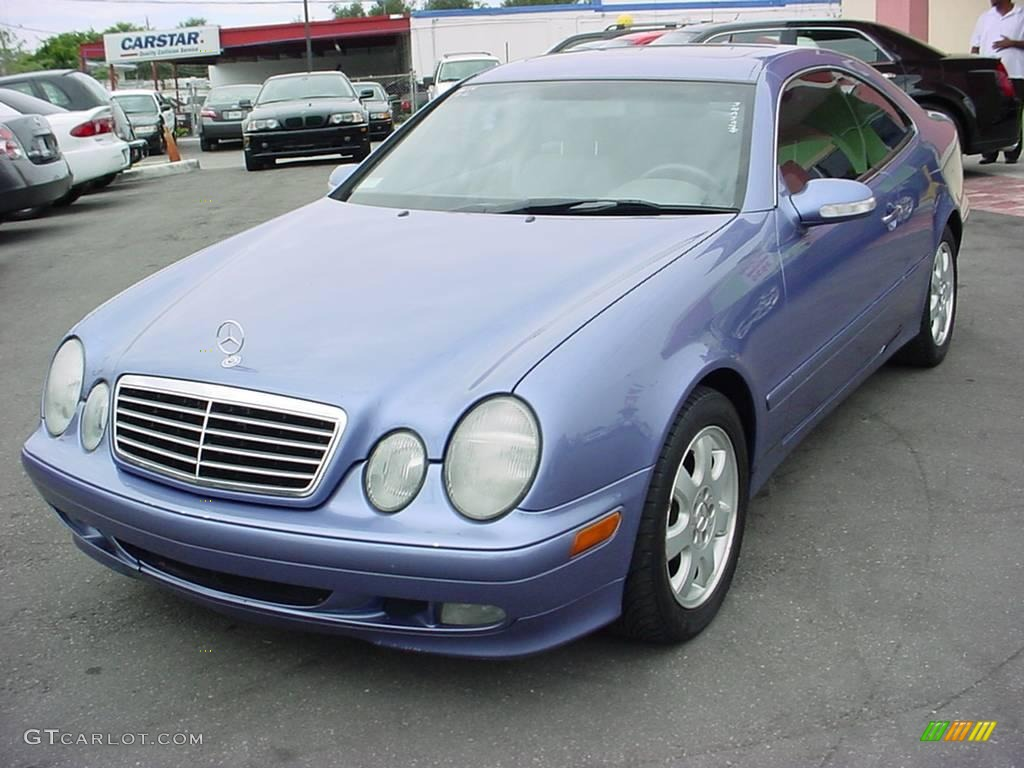 2002 Quartz Blue Metallic Mercedes Benz Clk 320 Coupe