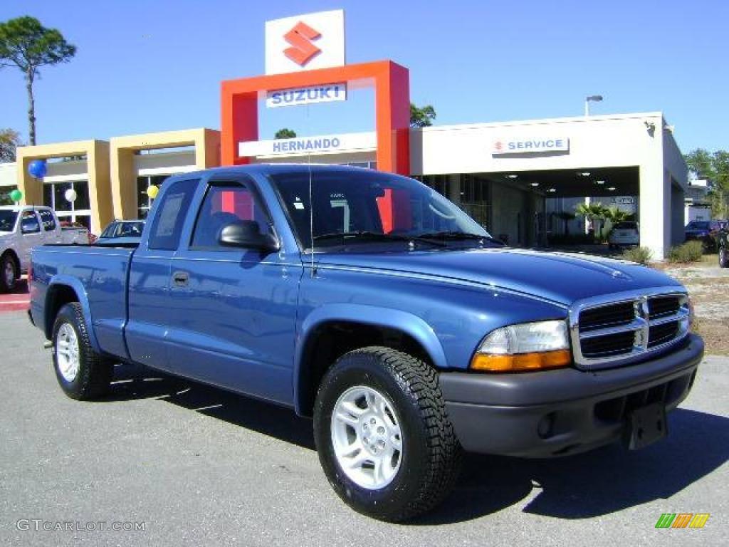 2004 Dodge Dakota Sxt Club Cab 4x4 Black Color Dark Slate