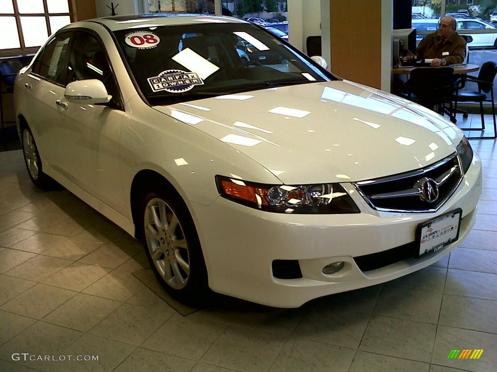 2008 TSX Sedan - Premium White Pearl / Ebony photo #2