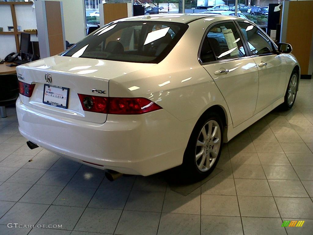 2008 TSX Sedan - Premium White Pearl / Ebony photo #3