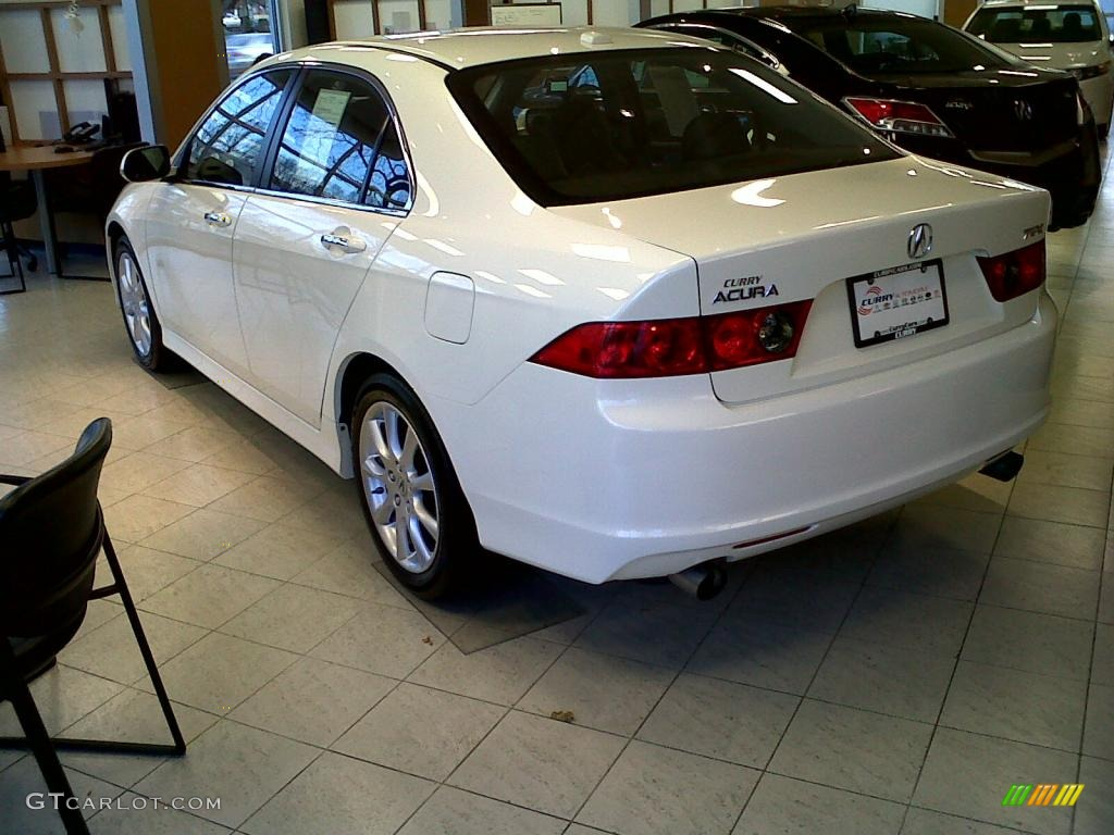 2008 TSX Sedan - Premium White Pearl / Ebony photo #5