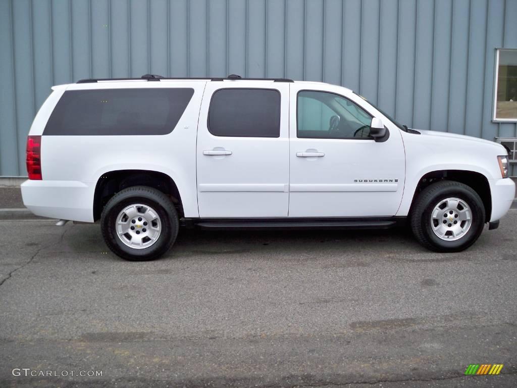 2008 suburban 1500 lt 4x4 summit white ebony photo 2