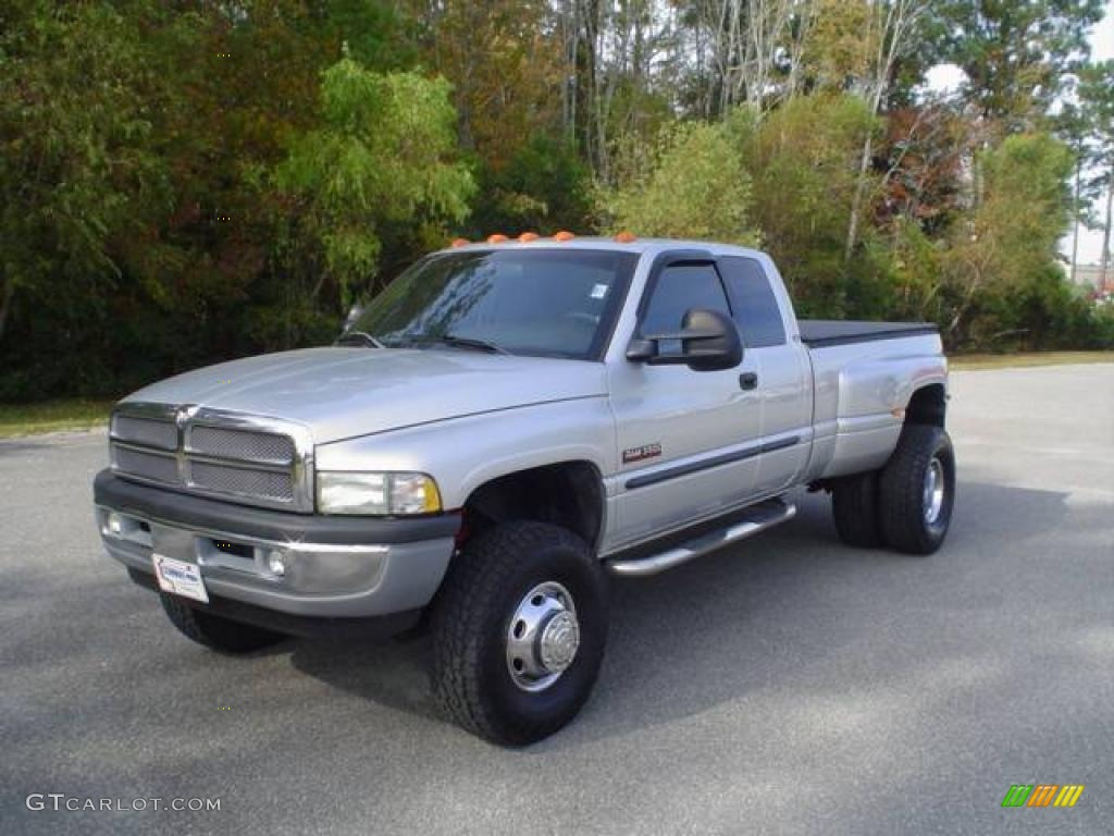 2001 Bright Silver Metallic Dodge Ram 3500 Slt Quad Cab