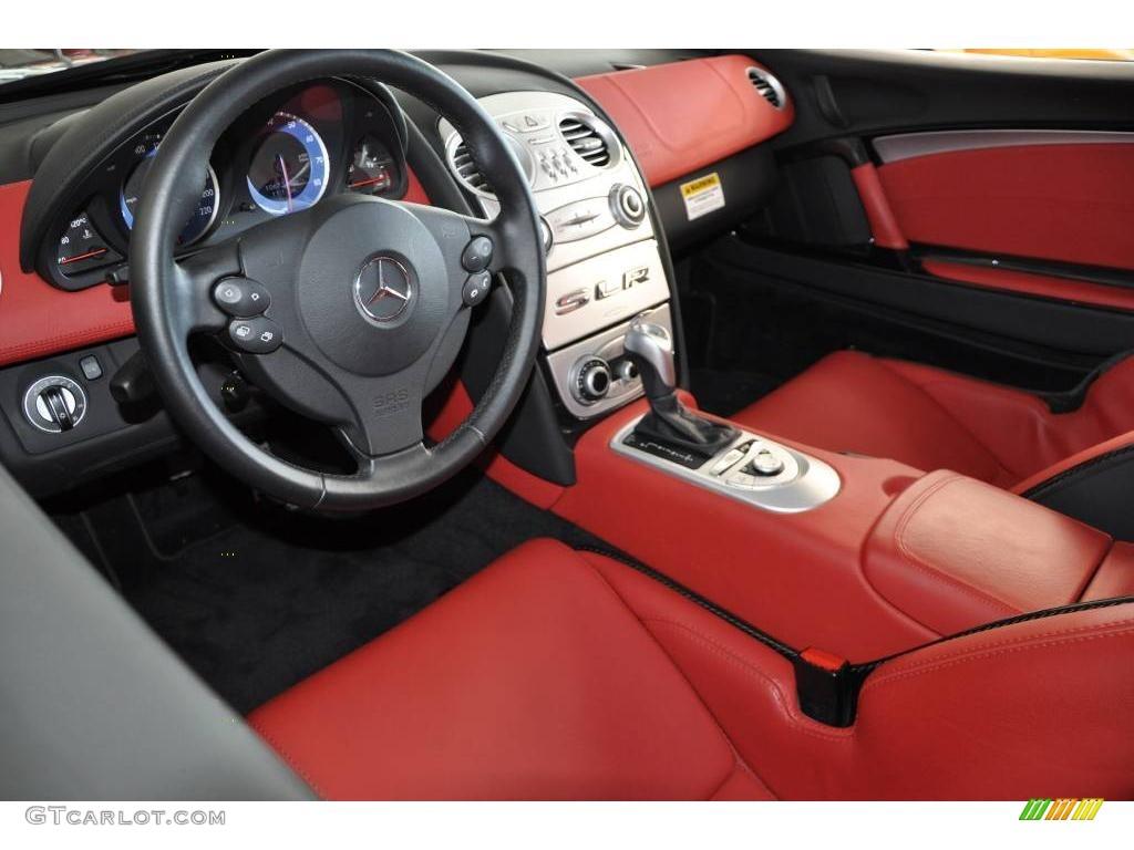 300sl red interior 2006 mercedes-benz slr mclaren photo #21902423