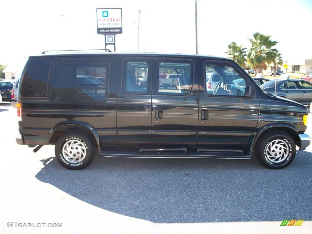 1994 econoline e150 custom van black mark iii blue photo 4
