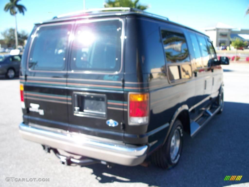 1994 econoline e150 custom van black mark iii blue photo 5