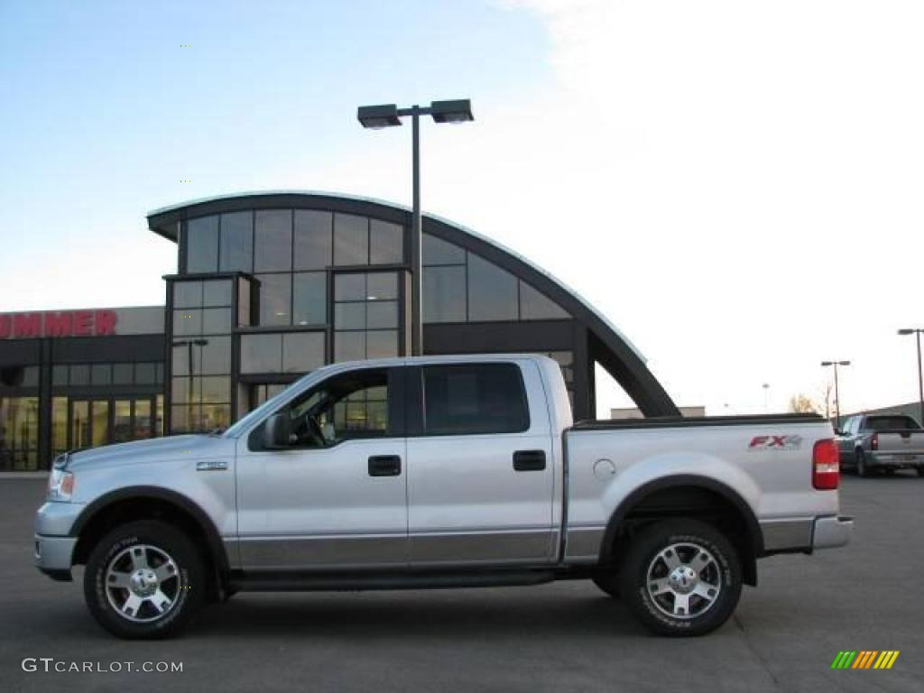 2005 f150 fx4 supercrew 4x4 silver metallic black photo 1
