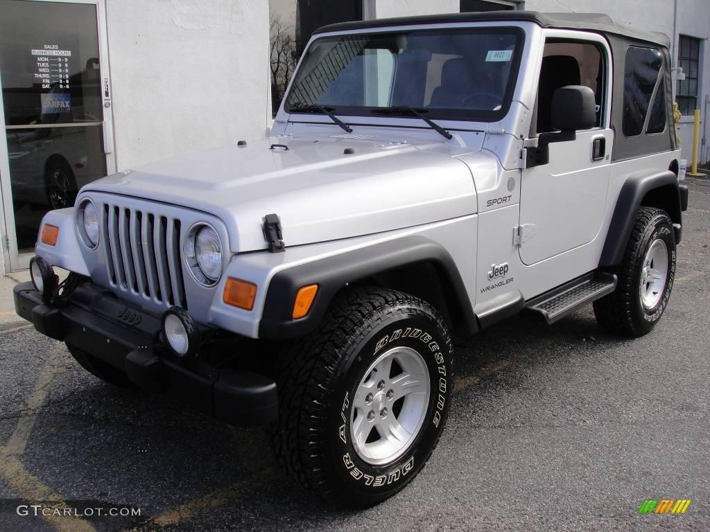 2004 bright silver metallic jeep wrangler sport 4x4. Black Bedroom Furniture Sets. Home Design Ideas