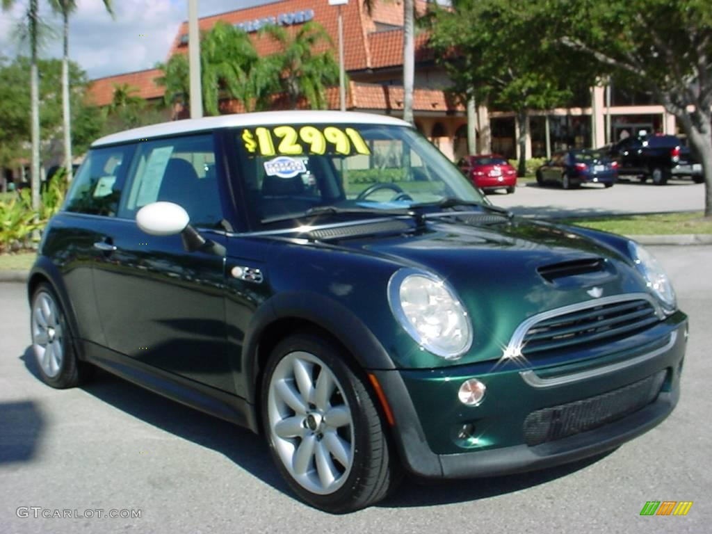 2003 british racing green metallic mini cooper s hardtop 21867724 car color. Black Bedroom Furniture Sets. Home Design Ideas