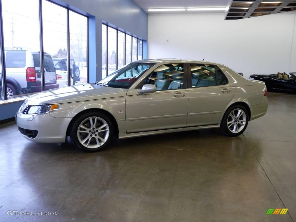 2007 Parchment Silver Metallic Saab 9-5 Aero Sedan #21942370 Photo ...