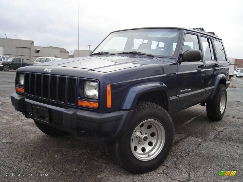 2001 Patriot Blue Pearlcoat Jeep Cherokee Sport 4x4 21924582 Gtcarlot Com Car Color Galleries