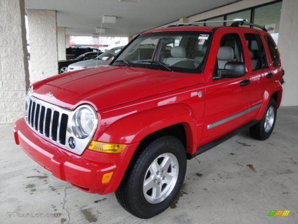 2005 Flame Red Jeep Liberty Crd Limited 4x4  21940395