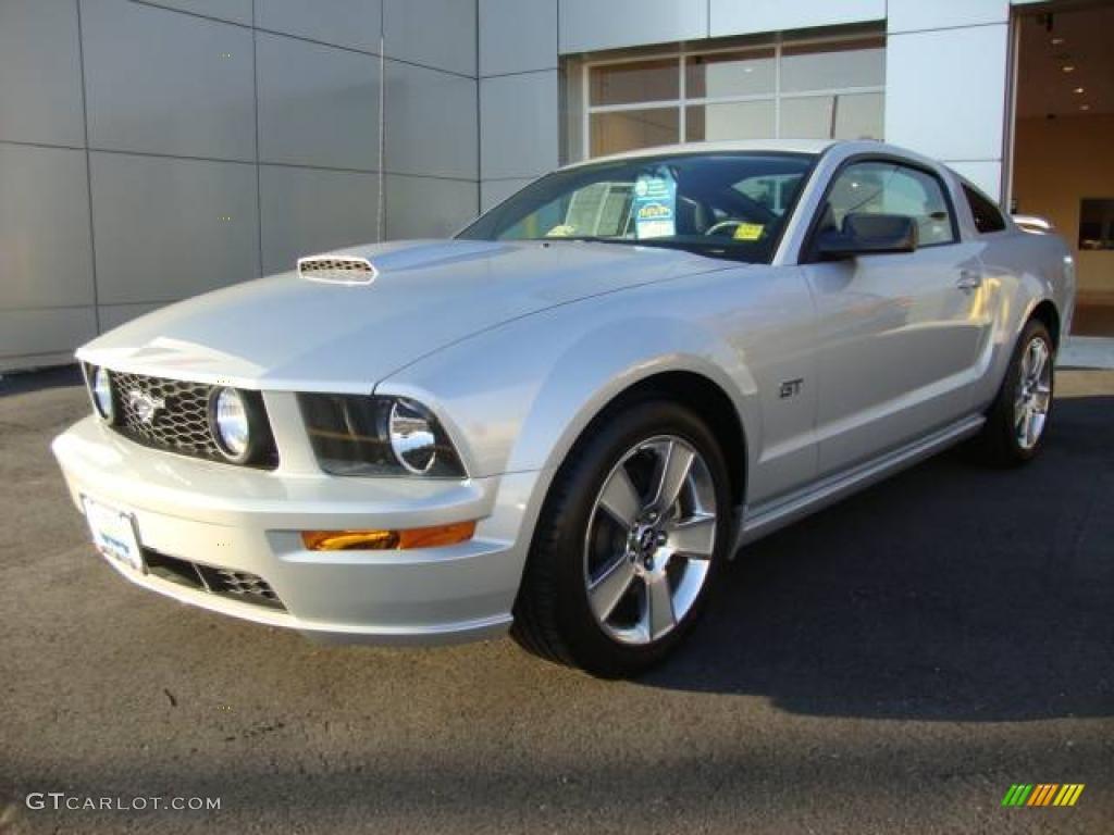 Satin Silver Metallic Ford Mustang