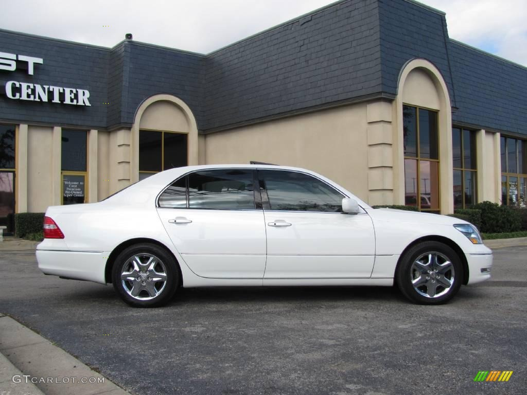 2005 crystal white lexus ls 430 sedan 21939611 photo 7. Black Bedroom Furniture Sets. Home Design Ideas